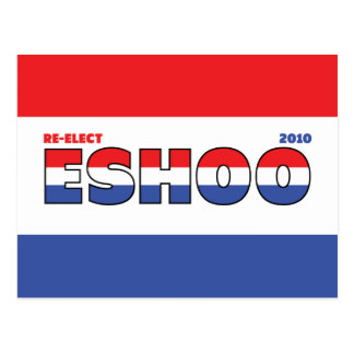 Vote Eshoo 2010 Elections Red White and Blue Post Card