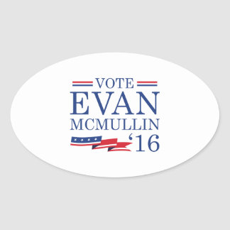 Vote Evan McMullin 2016 Oval Sticker