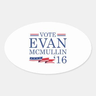 Vote Evan McMullin 2016 Oval Sticker