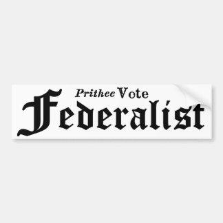 Vote Federalist Bumper Sticker