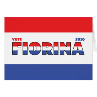 Vote Fiorina 2010 Elections Red White and Blue Greeting Cards