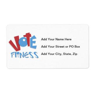 Vote Fitness Label