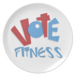 Vote Fitness Plate
