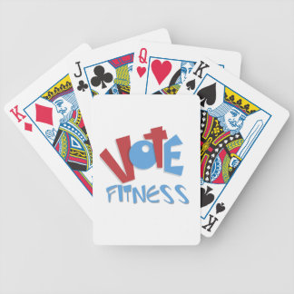 Vote Fitness Bicycle Poker Deck