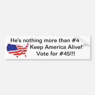 Vote for #45 car bumper sticker