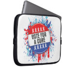 Vote for a Cure for Cancer Laptop Sleeves