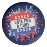 Vote for a Cure for Cancer Plates