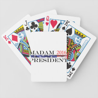 Vote for a Madam President in 2016 Bicycle Playing Cards