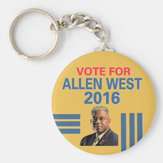 Vote for Allen West Keychain