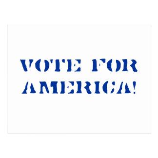VOTE FOR AMERICA! POSTCARD