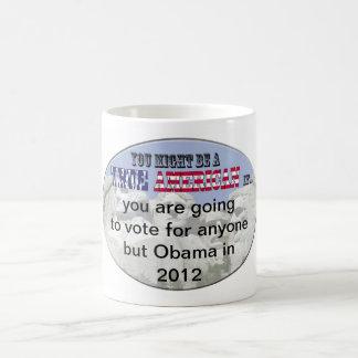 vote for anyone but obama 2012 coffee mug