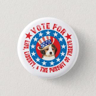 Vote for Beagle Pinback Button