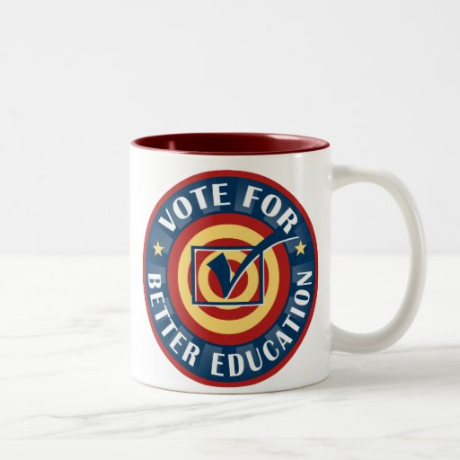 Vote for Better Education Two-Tone Coffee Mug