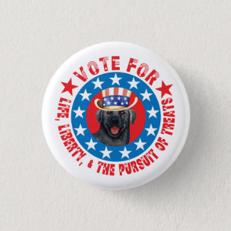 Vote for Black Lab Button