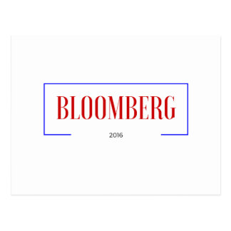 Vote for Bloomberg in 2016 Postcard