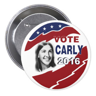 Vote for Carly Fiorina Pinback Button