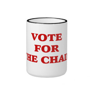 Vote For Chair Invisible Obama Ringer Coffee Mug