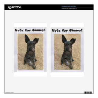 Vote for Champ! Kindle Fire Skin