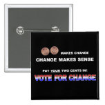 Vote for Change 2008 2 Inch Square Button