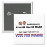 Vote for Change 2008 Pinback Button