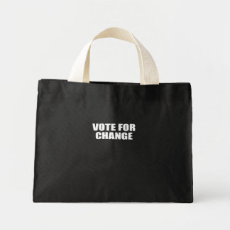 VOTE FOR CHANGE CANVAS BAGS