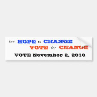 Vote for Change bumper sticker - 2010