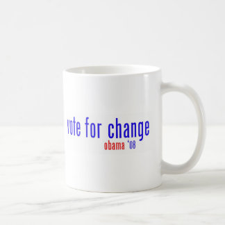 vote for change classic white coffee mug