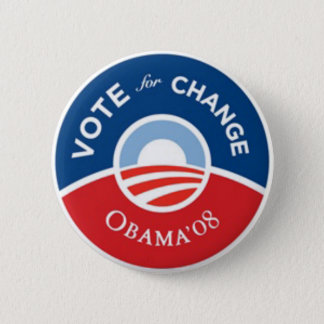 Vote for Change Obama Button