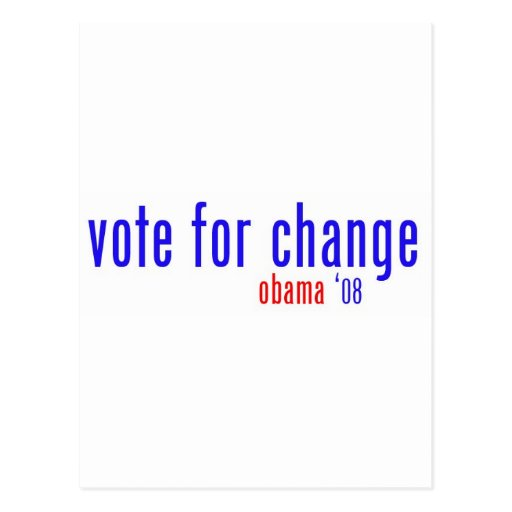 vote for change postcard