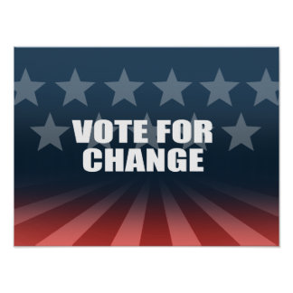 VOTE FOR CHANGE PRINT