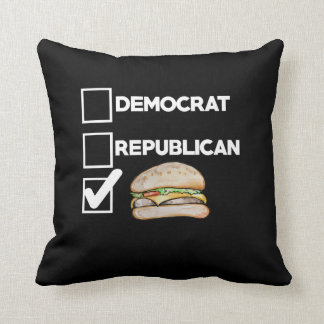 Vote for Cheeseburgers Pillow