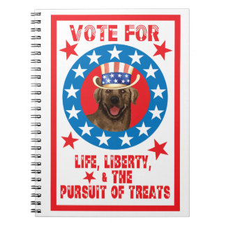 Vote for Chocolate Lab Notebook