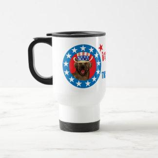 Vote for Chocolate Lab Travel Mug