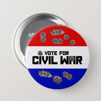 Vote for Civil War: Round Election Campaign Button