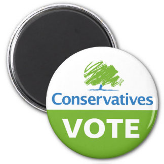 Vote for Conservatives 2 Inch Round Magnet
