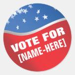 Vote For - custom campaign election sticker