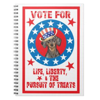 Vote for Dachshund Notebook