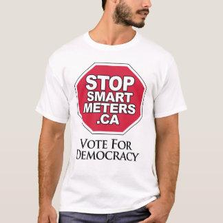 Vote for Democracy - Stop Smart Meters T-Shirt