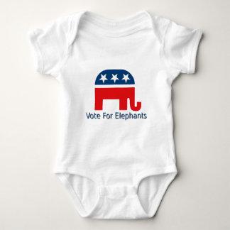 Vote for Elephants Baby Bodysuit
