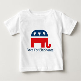 Vote for Elephants Baby T-Shirt
