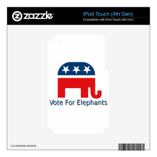 Vote for Elephants Decal For iPod Touch 4G