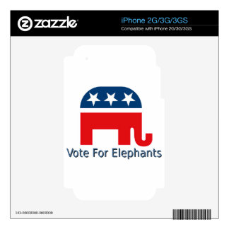 Vote for Elephants iPhone 3GS Skin