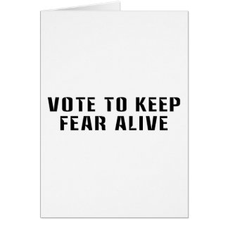 Vote for Fear 2 Card