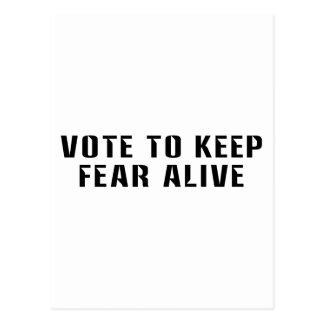 Vote for Fear 2 Postcard