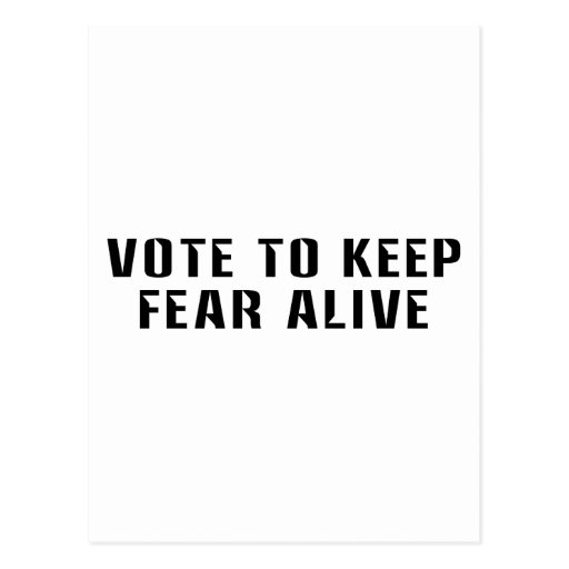 Vote for Fear 2 Postcards