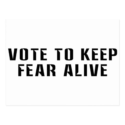 Vote for Fear 2 Post Card