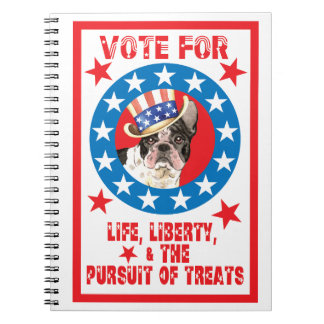 Vote for Frenchie Notebook