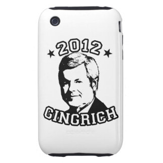 VOTE FOR GINGRICH 2012 TOUGH iPhone 3 COVERS