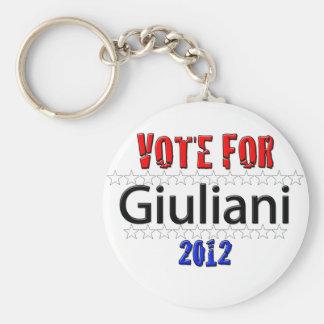 Vote for Giuliani in 2012 Keychain