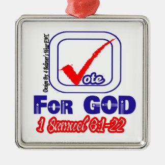 Vote For God (1 Samuel 8:1-22) Christmas Tree Ornament